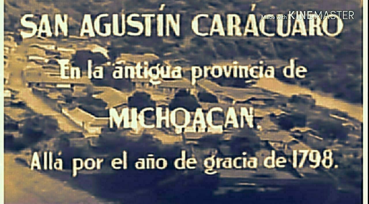 Momento histórico de la llegada de Morelos a Carácuaro